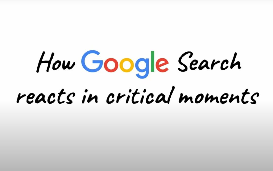 How Google Search Reacts in Critical Moment